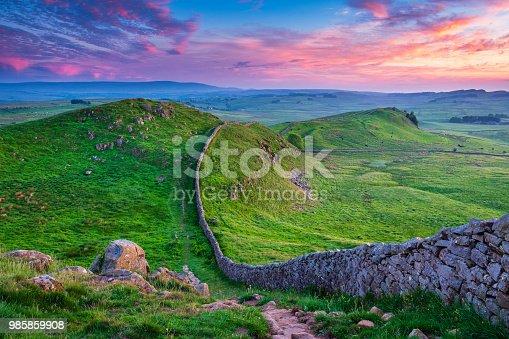 istock Twilight at Hadrian's Wall Caw Gap 985859908