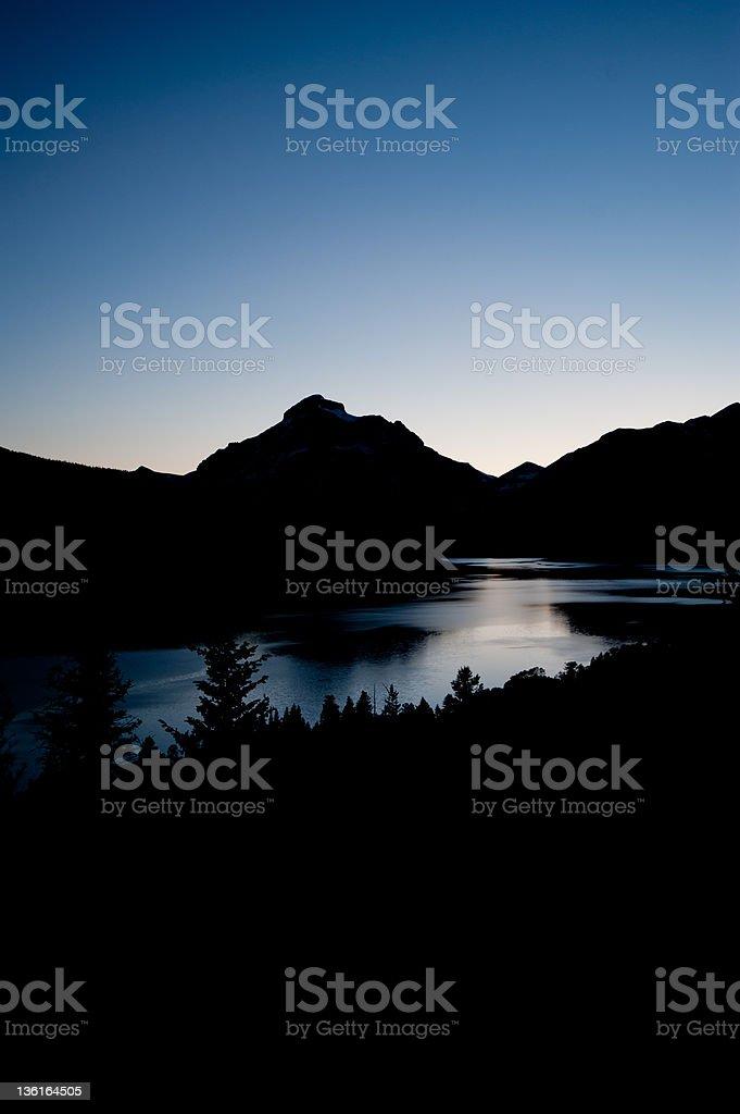 Twilight at Lake McDonald royalty-free stock photo