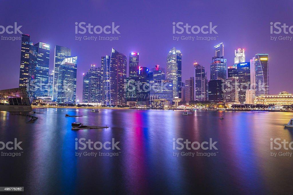 Twilight at Singapore stock photo