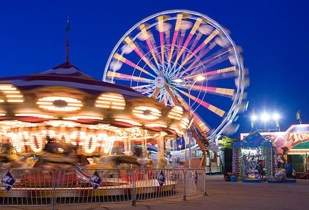 Twilight at the fair stock photo