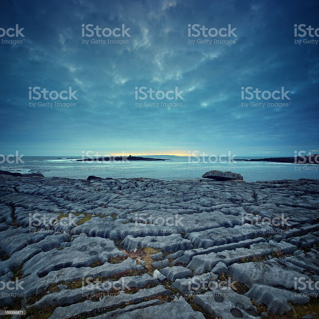 twilight at the world's end stock photo