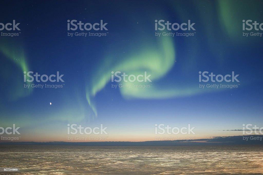 Twilight Aurora Borealis stock photo