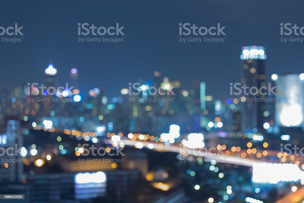 Twilight, blurred lights city downtown abstract background royalty-free stock photo