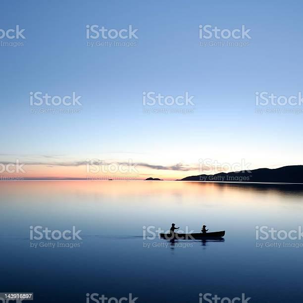 Photo of XXL twilight canoeing