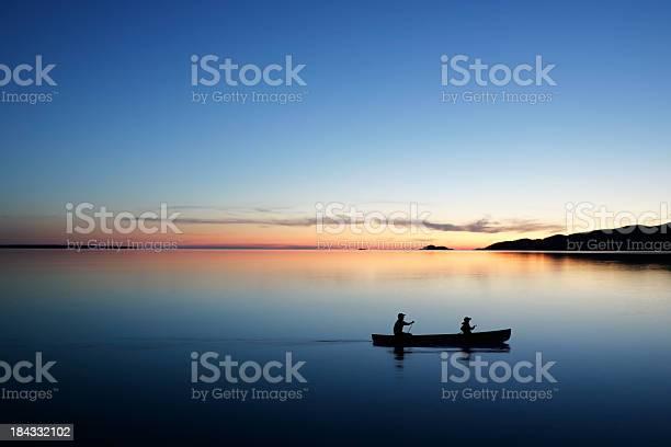 Photo of XL twilight canoeing