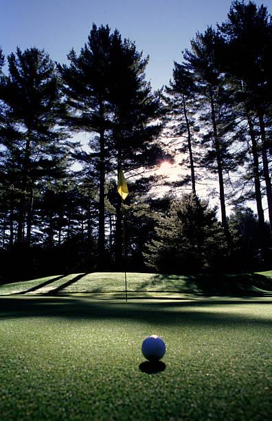 golf in der Abenddämmerung – Foto