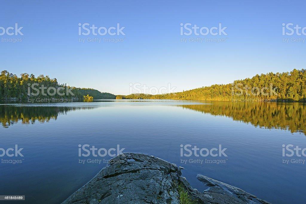 Twilight in Canoe Country stock photo