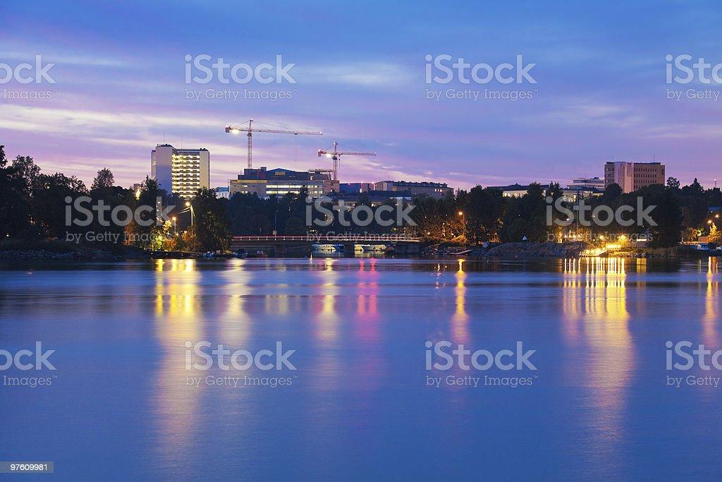 Twilight in Helsinki royalty-free stock photo