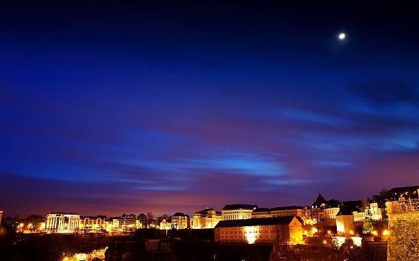 Twilight in Luxembourg stock photo
