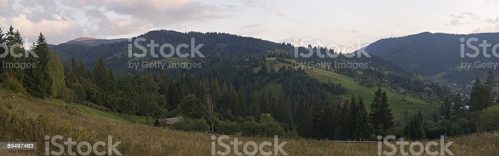 Twilight in moantains royalty-free stock photo