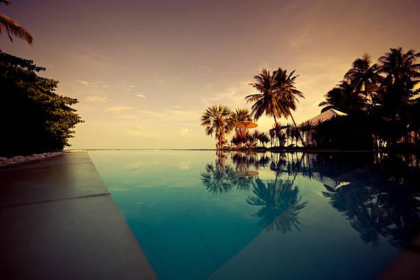 twilight in paradise stock photo