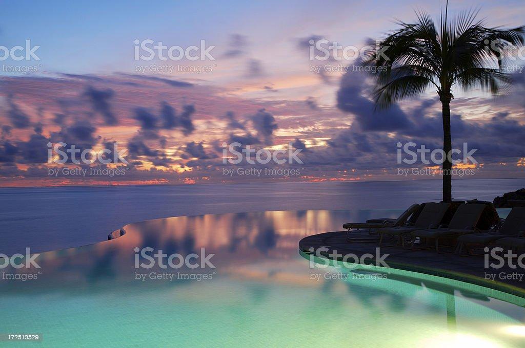 Sonnenuntergang im Paradies – Foto
