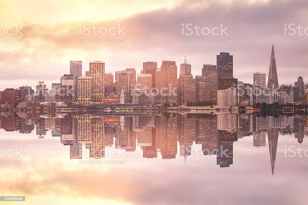 Twilight in San Francisco stock photo