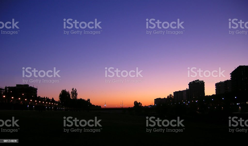 Twilight in the city royalty-free stock photo