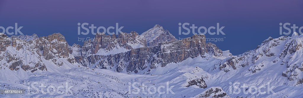 Twilight in the Dolomites royalty-free stock photo