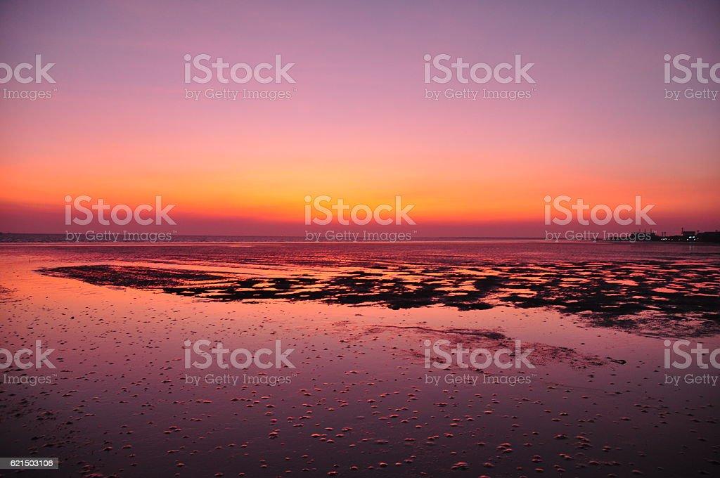 twilight in the sea Lizenzfreies stock-foto