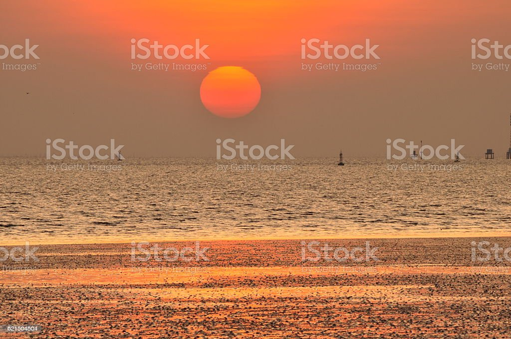 twilight in the sea photo libre de droits