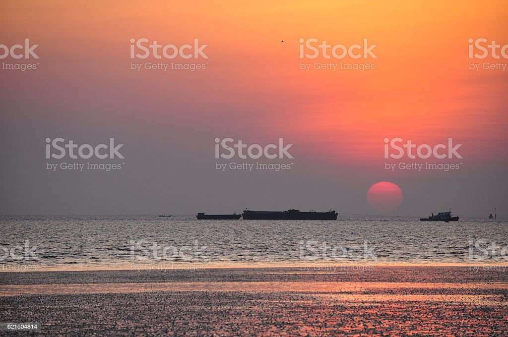 twilight in the sea foto stock royalty-free