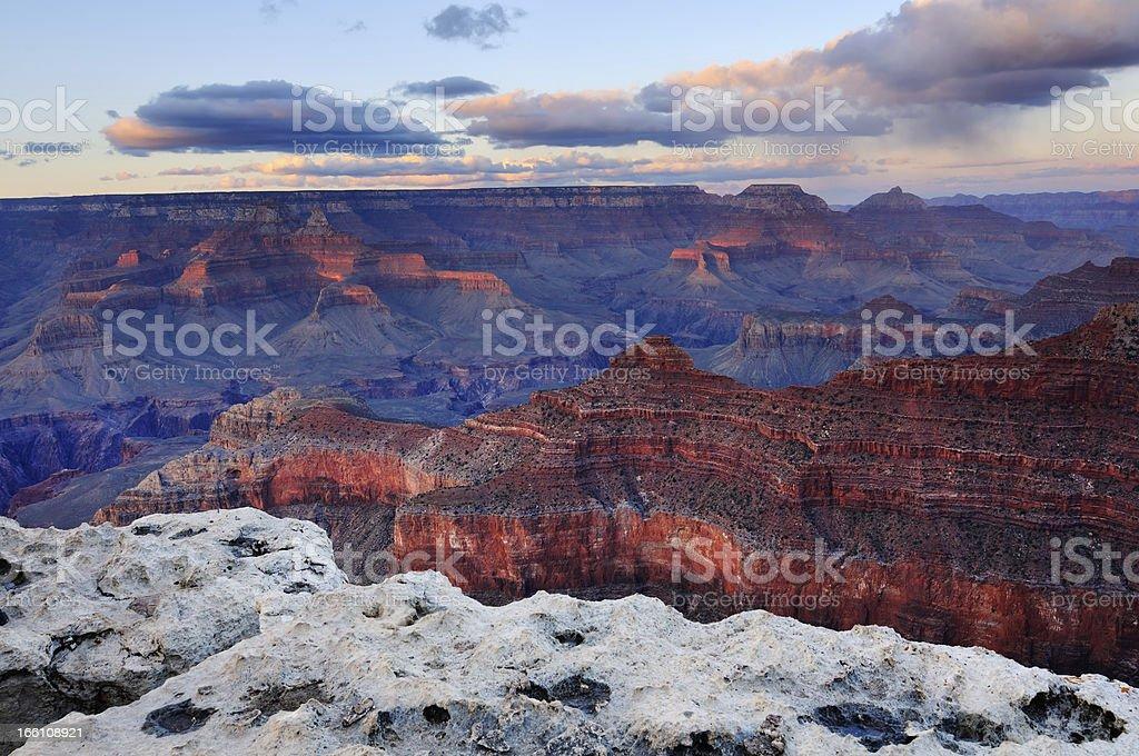 Twilight landscape of Grand Canyon, Arizona, USA stock photo