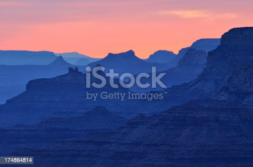Twilight landscape of Grand Canyon National Park