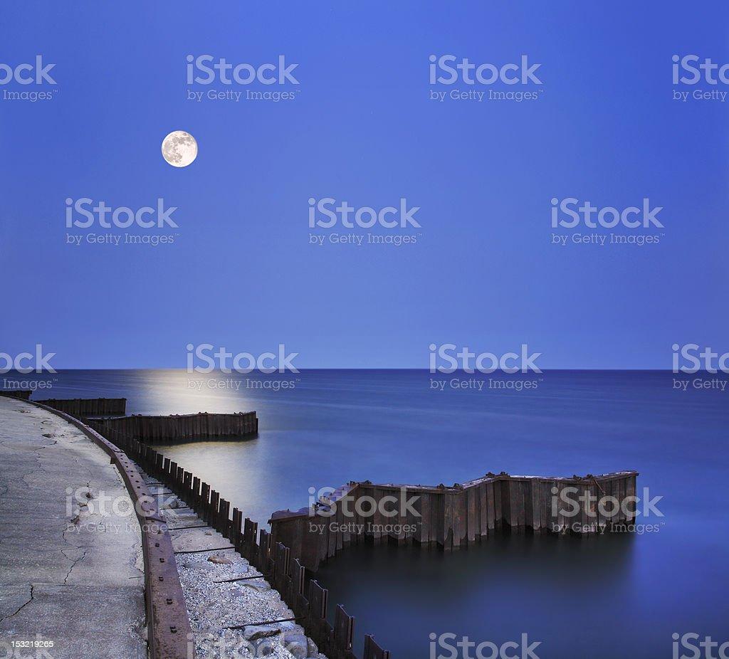 Twilight Moon royalty-free stock photo