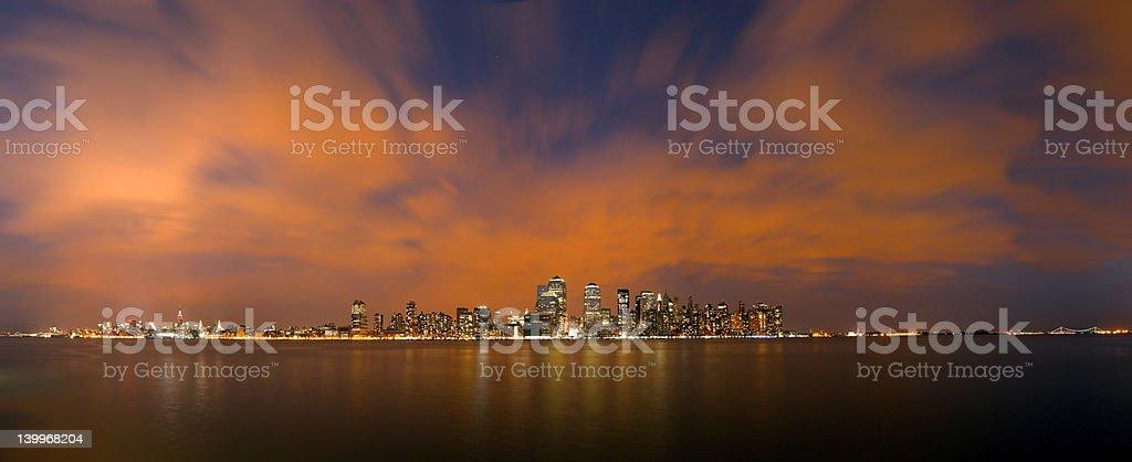 Twilight New York panorama royalty-free stock photo