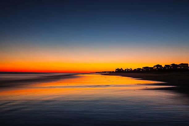 Twilight on the Beach stock photo