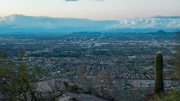 Twilight over Phoenix stock photo