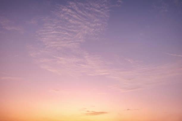 Twilight Purple And Golden Sky stock photo