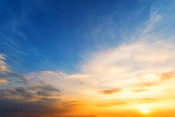 twilight sky background,sky sunset sunrise orange sky blue - niebo życie pozagrobowe zdjęcia i obrazy z banku zdjęć