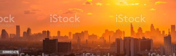 Photo of Twilight sunset over Bangkok city