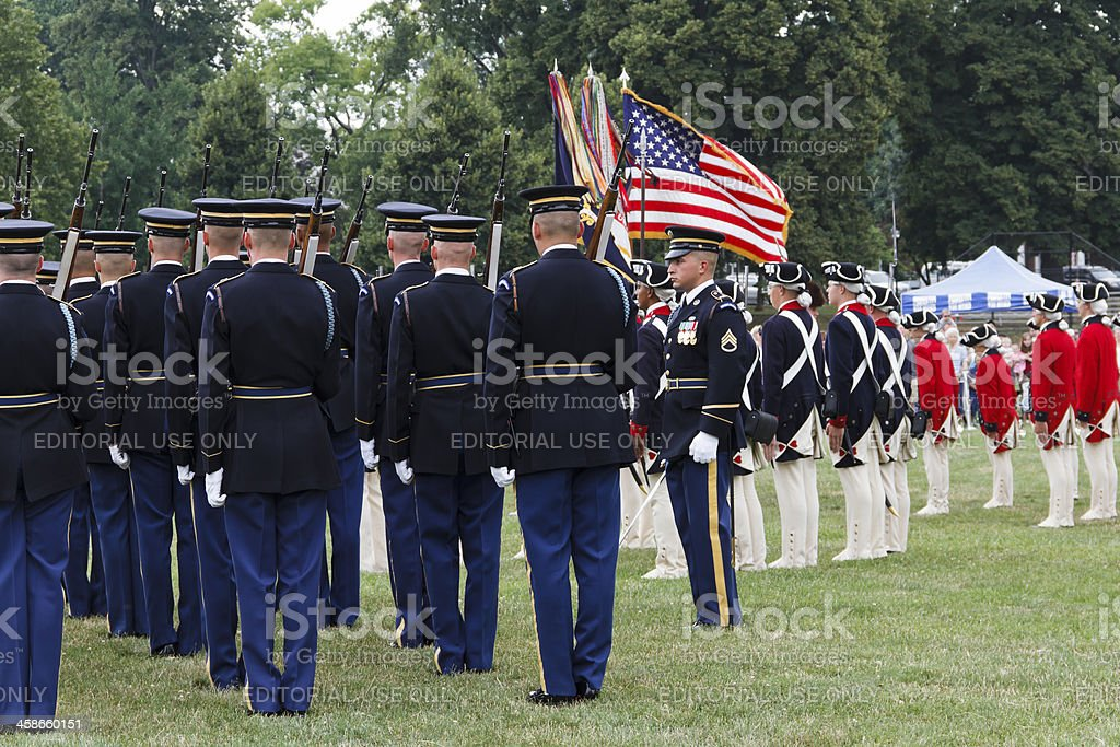 Twilight Tattoo, American Soldiers royalty-free stock photo