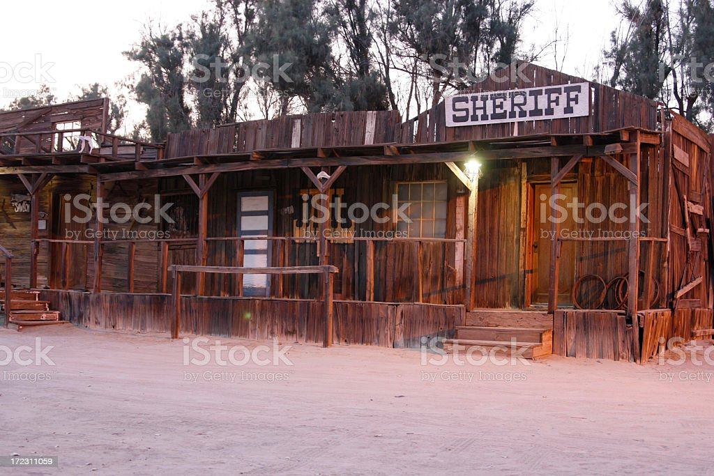 Twilight Townfront stock photo