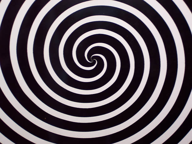 Twilight Zone Spirals stock photo