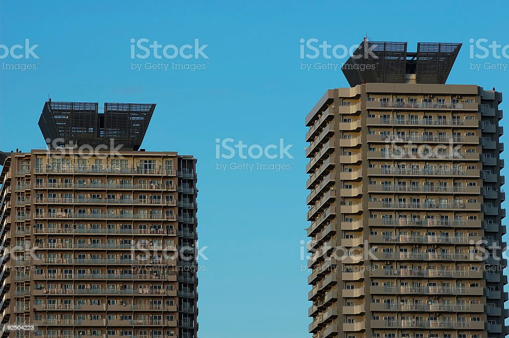 Twin Apartments details royalty-free stock photo
