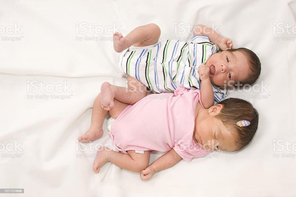 Twin babies royalty-free stock photo
