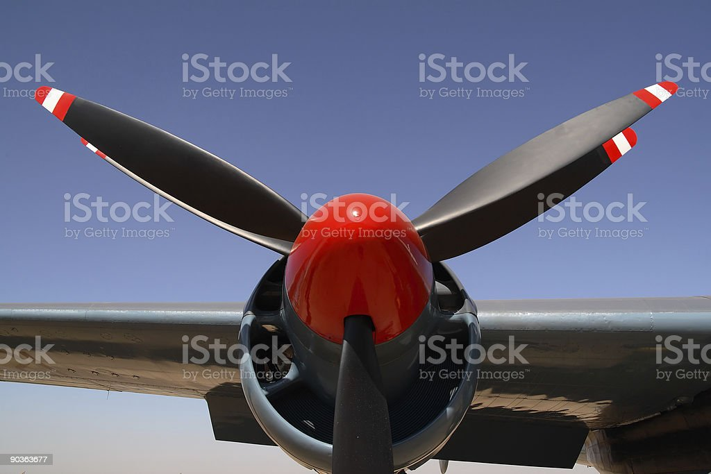 Twin bladed prop stock photo
