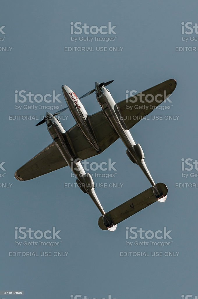 Twin boom vintage aircraft royalty-free stock photo