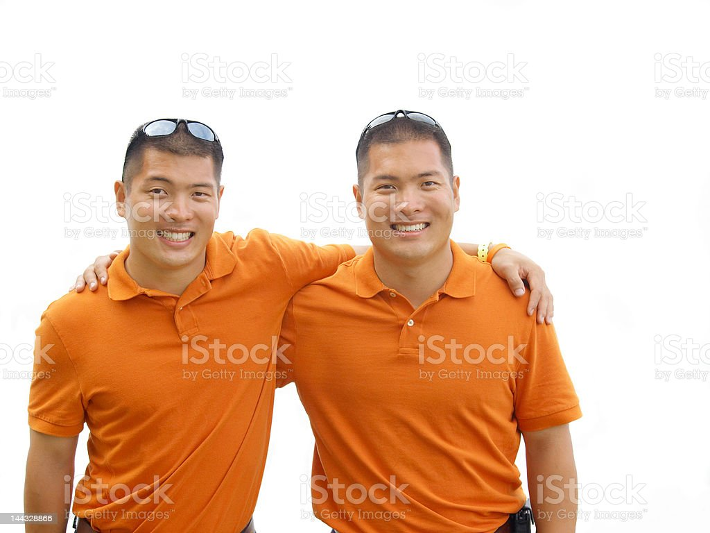 Twin brothers royalty-free stock photo