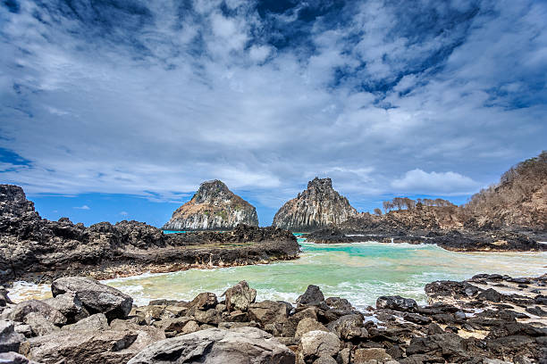 Twin Brothers,Fernando de Noronha stock photo