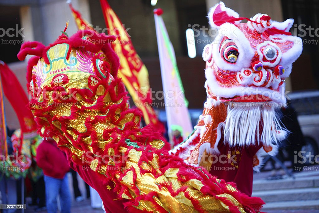 Twin Chinese Dragons royalty-free stock photo