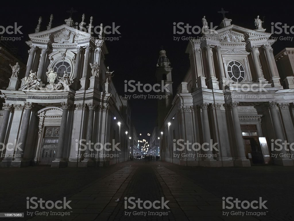 Twin churches royalty-free stock photo