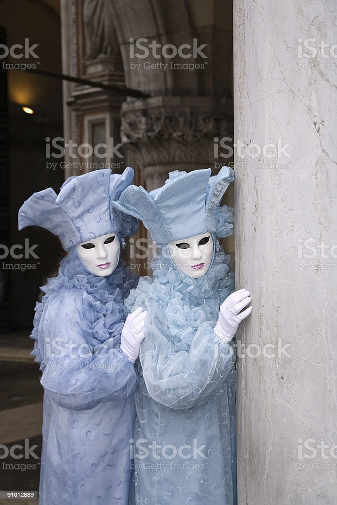 Twin costumes royalty-free stock photo