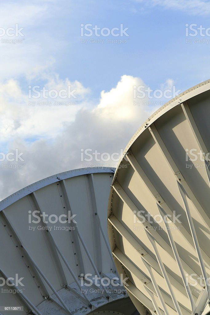 twin dishes stock photo