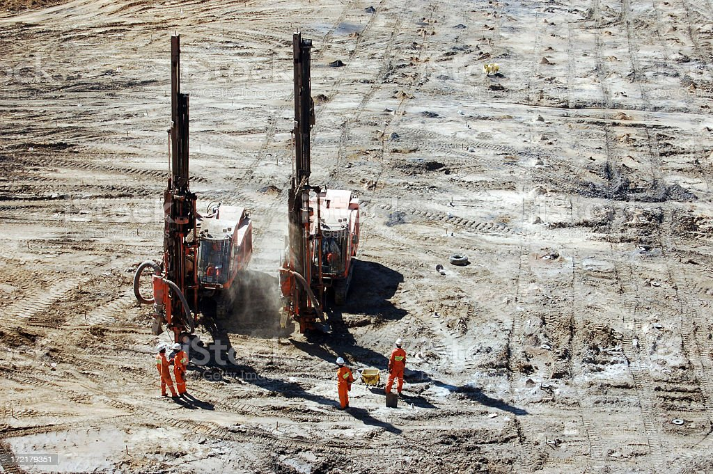 Twin Drilling stock photo