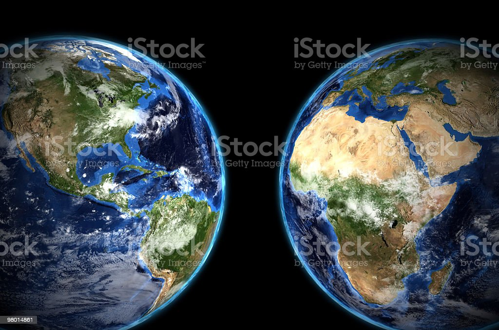 Twin Earth royalty-free stock photo