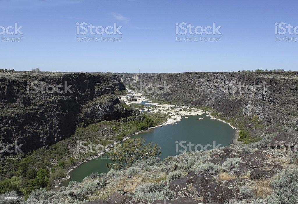 Twin Falls Canyon royalty-free stock photo