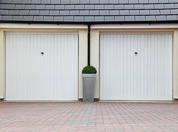 twin garage. stock photo