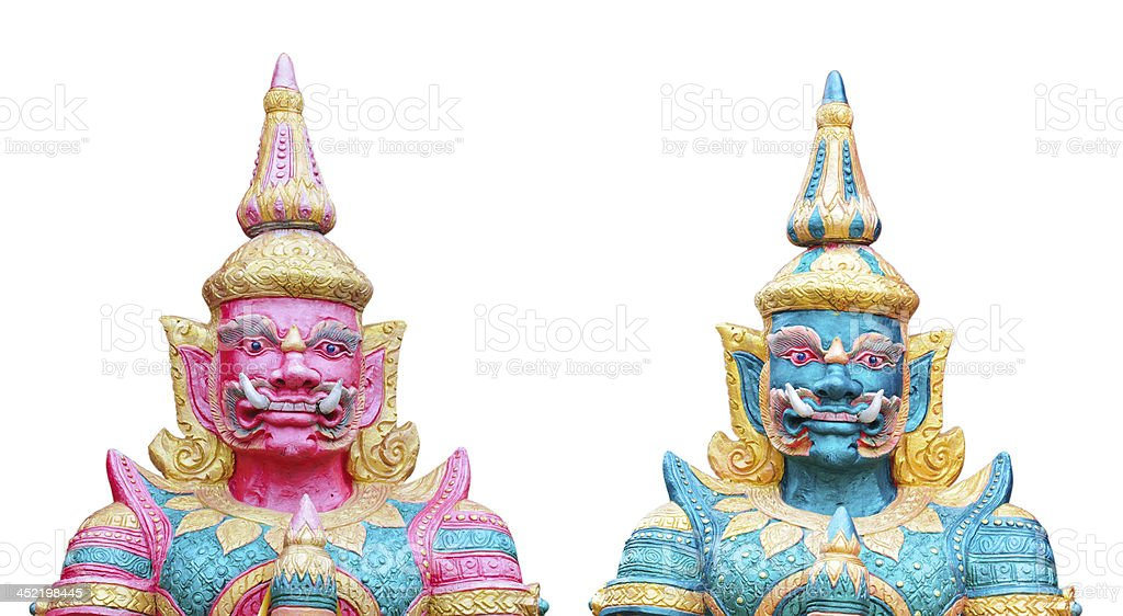 Twin giant statue royalty-free stock photo