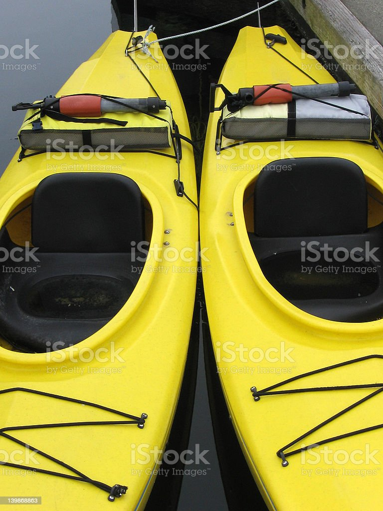 Twin Kayaks royalty-free stock photo